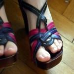 Sacksahne auf meinen Schuhen