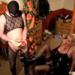 CBT Schwanz Tortour Sack Klammern Heels – Domina Sklave BDSM